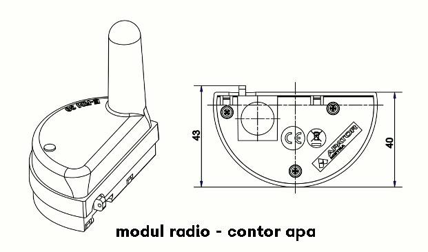 modul radio contor apa